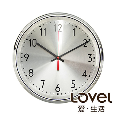 Lovel 31cm工業風鐵框魚眼鏡面靜音時鐘-共2款