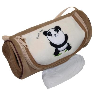 安伯特可愛貓熊面紙套褐色圓仔款