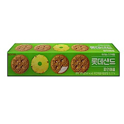 LOTTE樂天 夾心餅乾-鳳梨口味(105g)