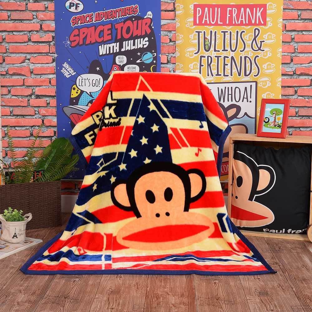 Paul Frank 美國派對 頂級加厚法蘭絨休閒毯