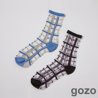 gozo 線條變奏曲透明果凍襪(二色)