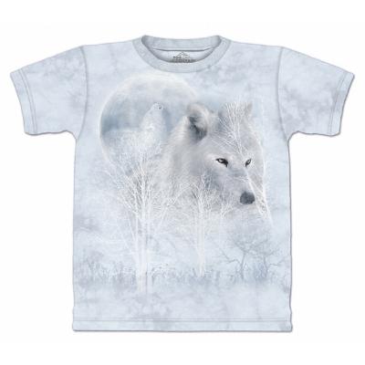 摩達客 美國進口The Mountain 雪白狼嚎 純棉環保短袖T恤