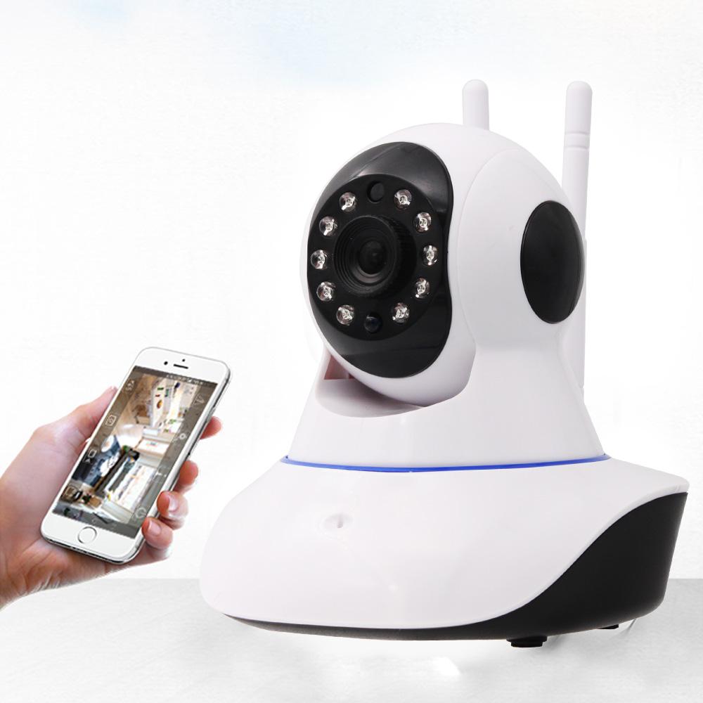 視訊王 雙天線旋轉鏡頭紅外線夜視WiFi監控攝影機