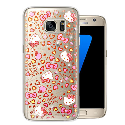 三麗鷗 Hello Kitty Samsung Galaxy S7 水鑽手機殼(...