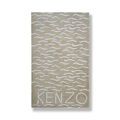 KENZO-沙灘-純棉毛巾蓋毯(米沙金)