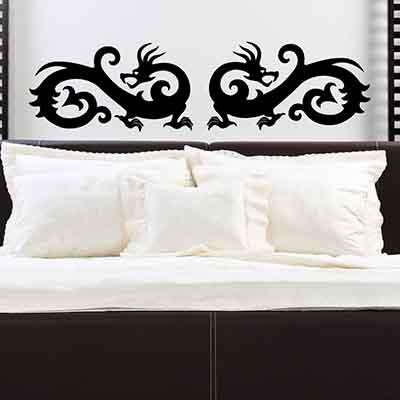 [摩達客]法國Ambiance 對龍設計 家飾壁貼