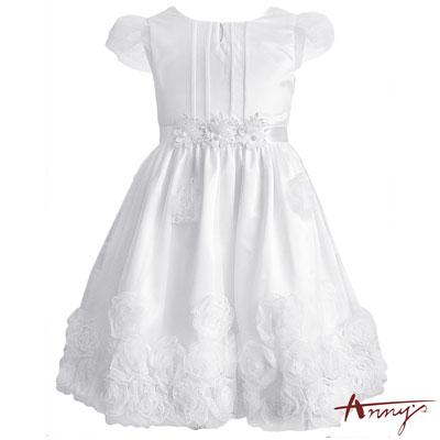 Annys超奢華滿滿立體玫瑰襬珍珠禮服*7105白