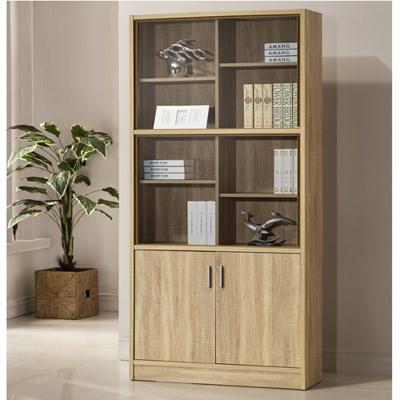 COMDESK十二格玻璃厚板書櫃-DIY(兩色可選)-90*29*180cm
