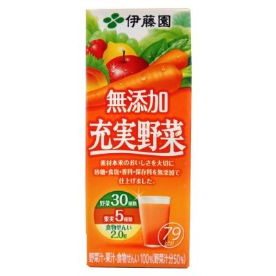伊藤園 充實野菜汁-蘋果紅蘿蔔(200ml)