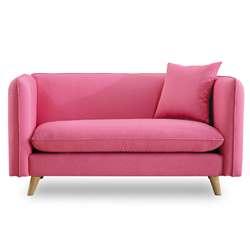 時尚屋 愛葛莎雙人座粉紅色沙發