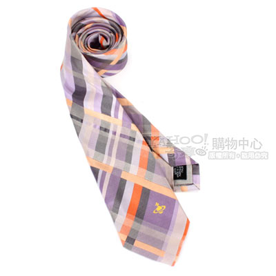 Vivienne Westwood 普普風多彩斜紋領帶-紫/橘