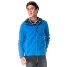 【hilltop山頂鳥】男款抗風保暖刷毛外套H22MU8藍