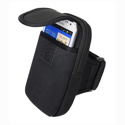 READY萬用雙袋運動手機臂套-簡潔黑(6吋以下適用)