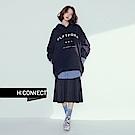 H:CONNECT 韓國品牌 女裝 - 純色百褶長裙 - 黑