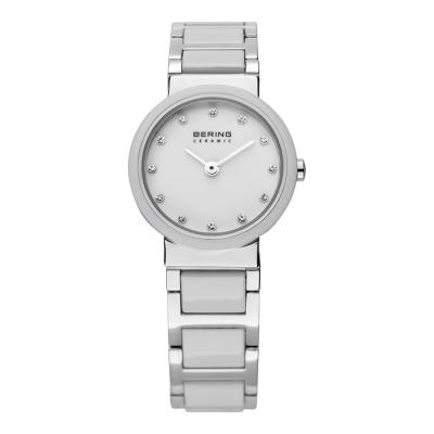BERING 晶鑽刻度陶瓷錶系列 藍寶石鏡面 銀x白25mm