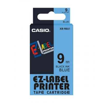 CASIO XR-9BU1藍底黑字標籤帶9m/m×8M