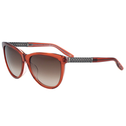 BOTTEGA VENETA太陽眼鏡 (透明紅色)BV251FS