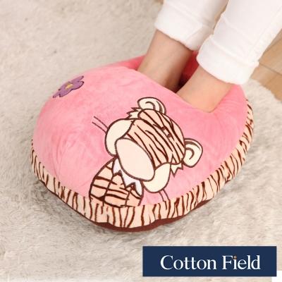 棉花田 老虎 超柔貼布刺繡暖腳枕