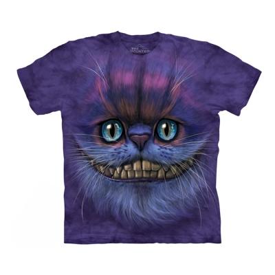 摩達客 美國進口The Mountain 笑笑柴郡貓臉 純棉環保短袖T恤