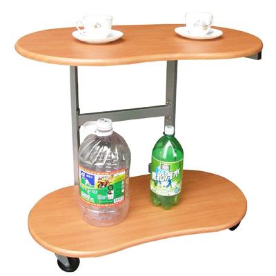 【耐重型】雙層-活動式餐桌【楓葉紅木色】