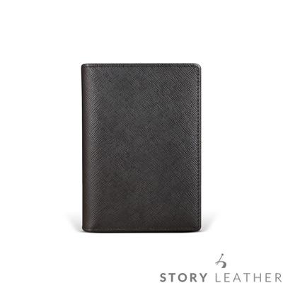 STORYLEATHER-牛皮護照夾-90833-A30-十字紋黑現貨