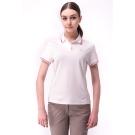 【hilltop山頂鳥】女款冷黑抗UV吸濕排汗POLO衫S14FC5白/白
