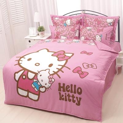 HELLO KITTY 我的娃娃系列-雙人純棉四件式床包涼被組