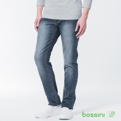 bossini男裝-修身牛仔長褲02深靛藍