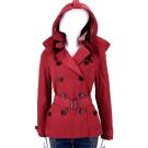 BURBERRY BRIT系列 Balmoral 短版連帽防雨風衣(紅色)