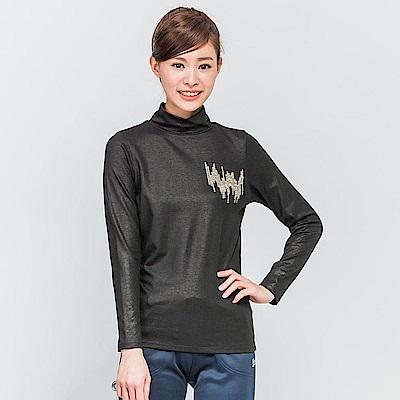 【TOP GIRL】高領保暖上衣-黑色
