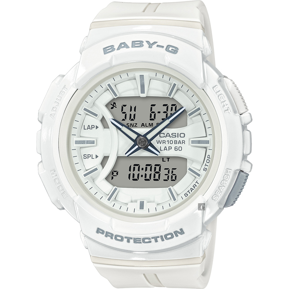 CASIO 卡西歐Baby-G 慢跑運動手錶-白(BGA-240BC-7ADR)