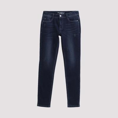Hang Ten - 女裝 - 仿舊刷色直筒牛仔褲 - 藍