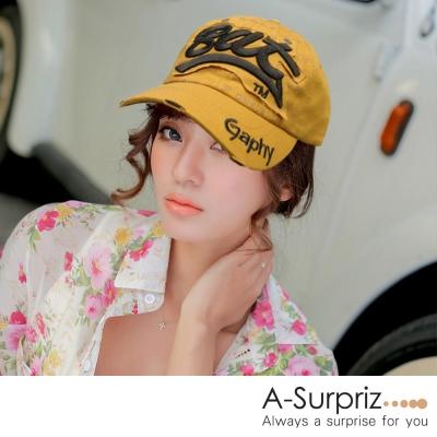 A-Surpriz-Bat字母棒球帽-土黃