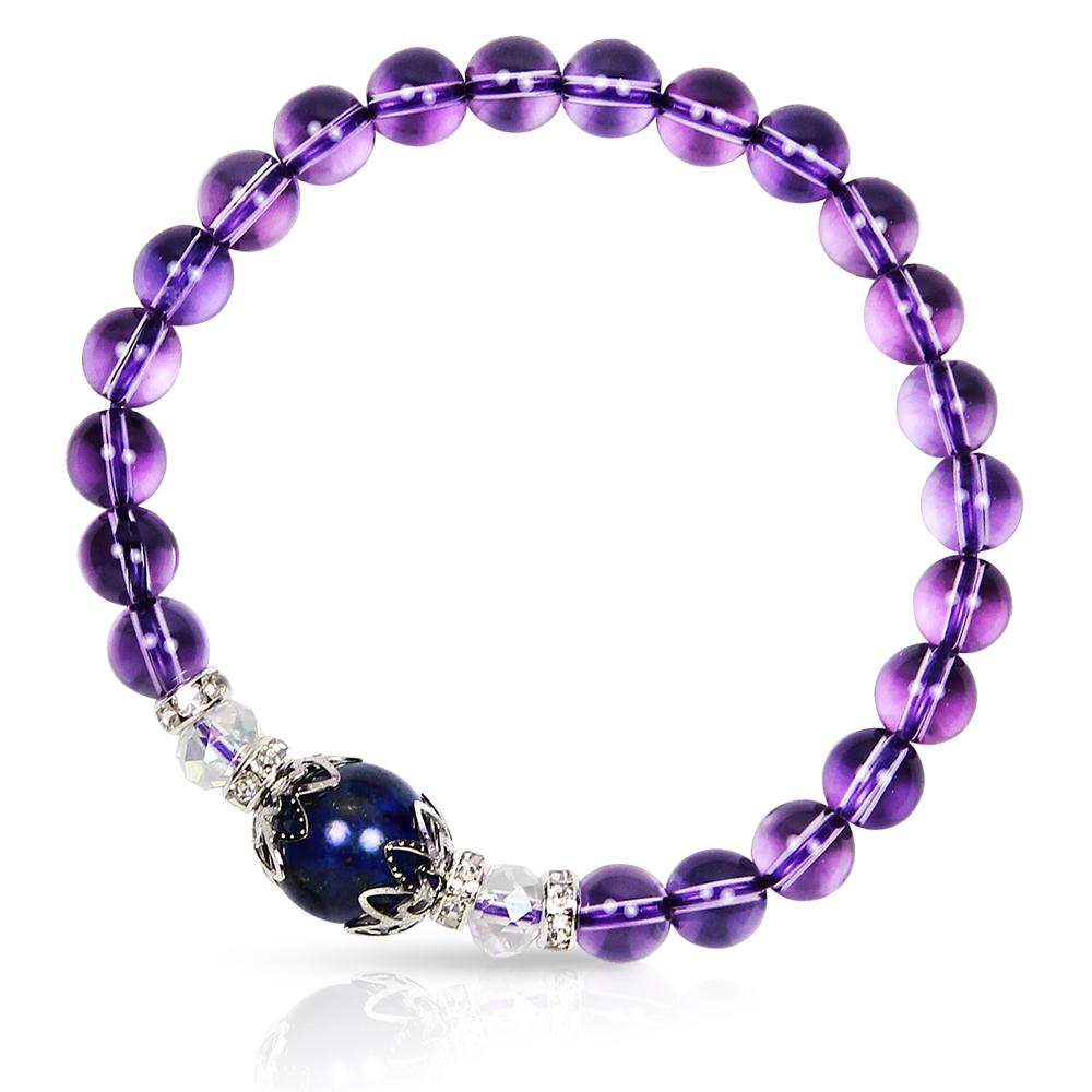 【A1寶石★十二星座】星座誕生石-晶鑽紫水晶白水晶青金石-幸運石(含開光)