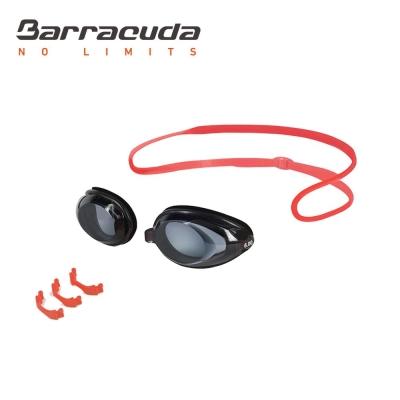美國巴洛酷達Barracuda成人近視泳鏡-紅色頭帶#2195