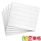 LOG樂格 3D立體深凹木皮紋 防撞美飾牆貼 -純白色 X5入(防撞壁貼/防撞墊)