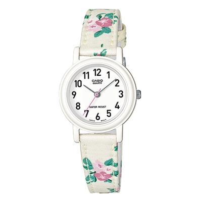 CASIO 復古美學花香氣息指針腕錶(LQ-139LB-7B2)-白26mm
