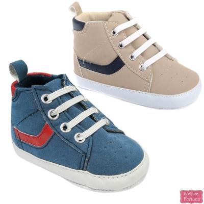 LILY & JACK 英國 仿麂皮高筒止滑學布鞋寶寶鞋