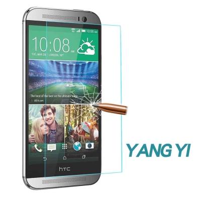 YANGYI揚邑 HTC M8 防爆防刮防眩弧邊 9H鋼化玻璃保護貼膜