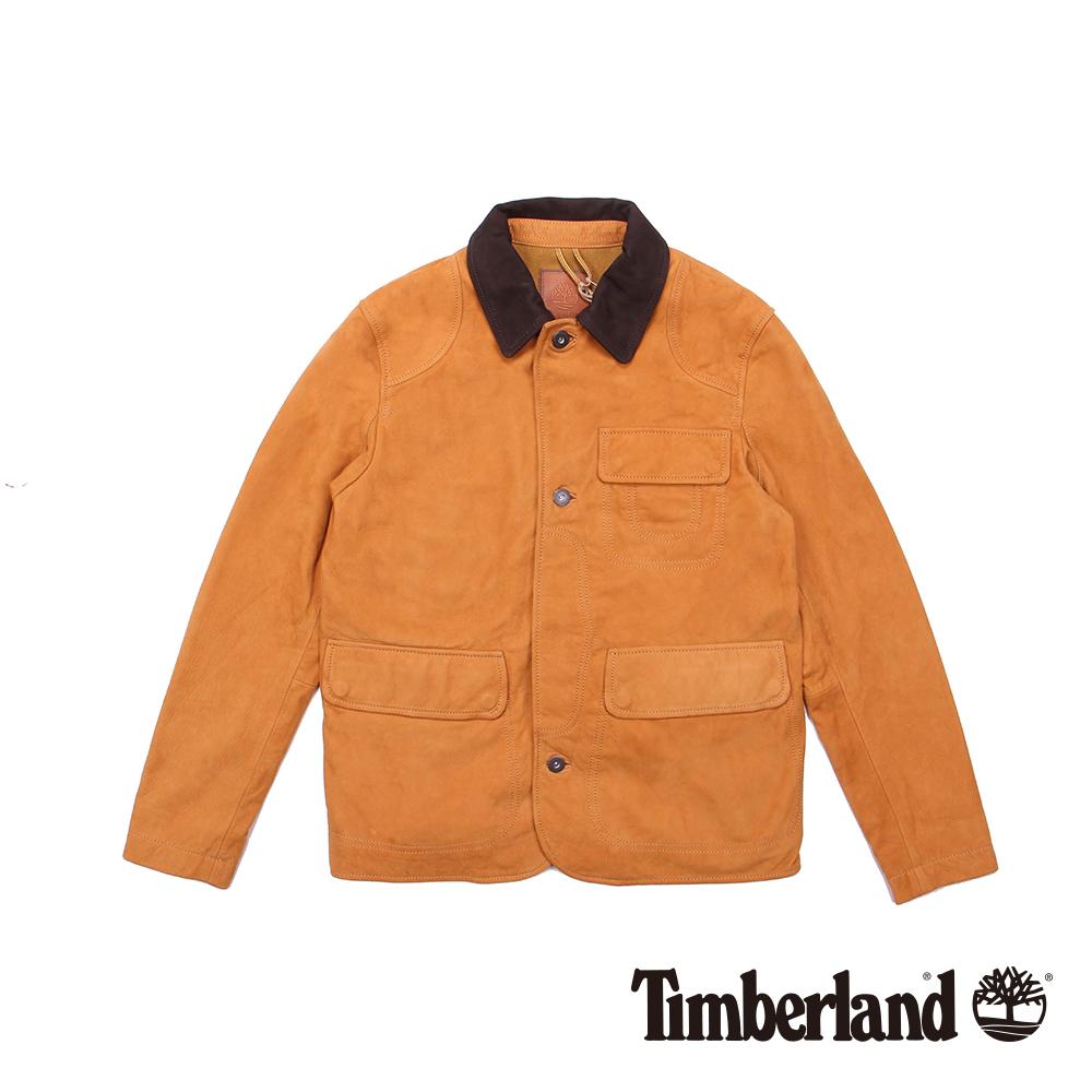 Timberland 男款小麥黃獵裝防水牛皮皮衣