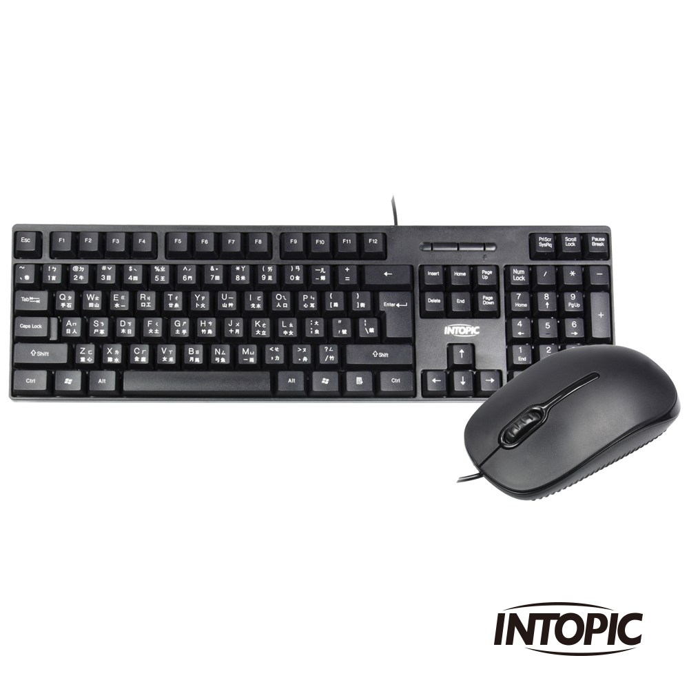 INTOPIC 廣鼎 USB有線鍵盤滑鼠組合包(KBC-501)