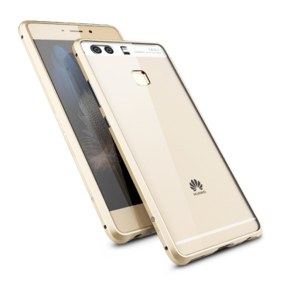 GINMIC 亮劍系列 華為 HUAWEI P9 鋁合金邊框+透明背蓋 手機保護...