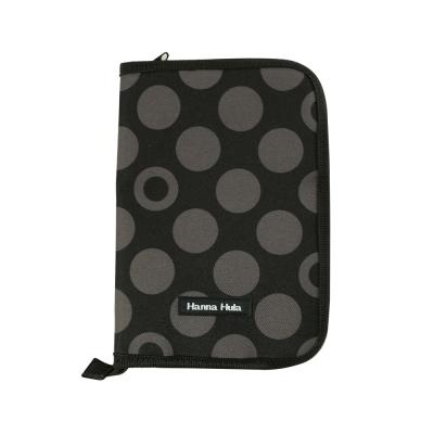 【Hanna Hula 日本】多用途手冊包L - 親子手冊、健保卡等都可收納(黑灰點)