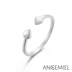 Angemiel安婕米 925純銀戒指 心相印