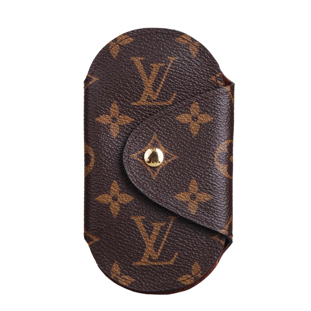 LV M60116 經典Monogram Round GM 造型扣環鑰匙包
