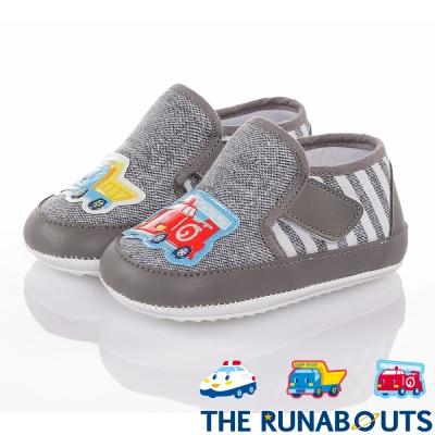 三麗鷗 THE RUNABOUTS  舒適輕量減壓寶寶學步童鞋-灰