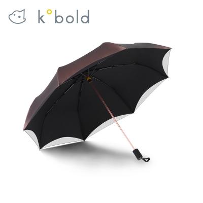 德國kobold酷波德 經典歐根紗遮陽防曬降溫傘 -三折傘-玫瑰金