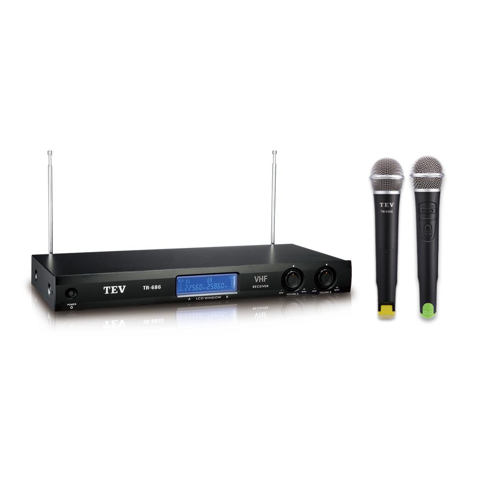 TEV VHF雙頻道無線麥克風 TR686