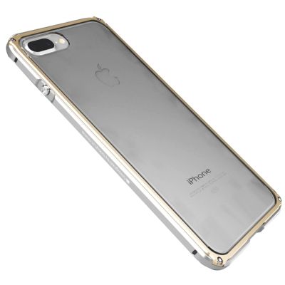 GINMIC 雙色傳奇 iPhone 7 4.7 金屬邊框+透明背蓋保護殼
