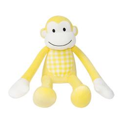 Yvonne Collection猴子造型小抱枕-嫩黃